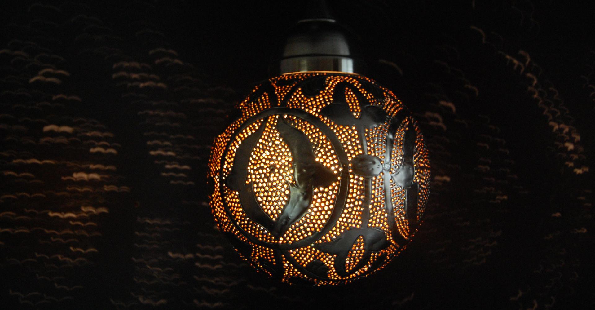 Gekleurde, Oosterse lampen