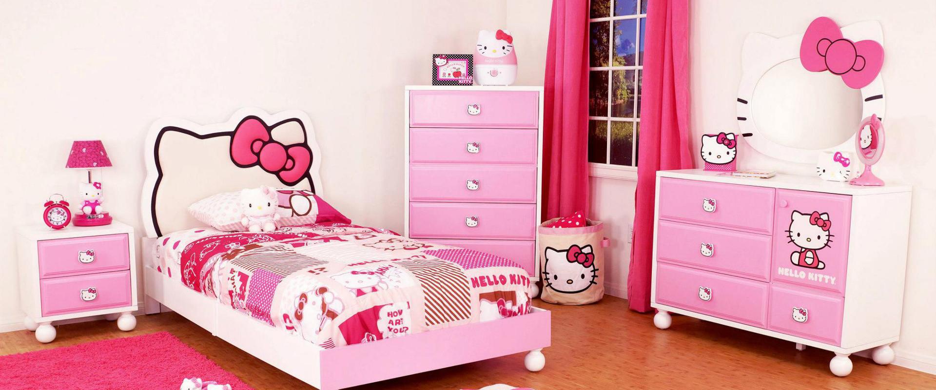 decoratie aan de muur in de meiden slaapkamer - sfeer en living, Deco ideeën