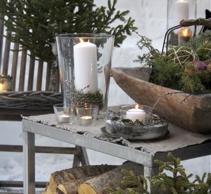 Kerstdecoratie in de tuin sfeer en living - Donkere gang decoratie ...