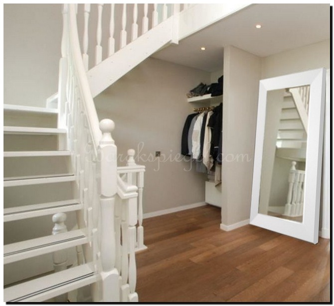 Moderne woonkamer spiegel moderne woonkamer spiegel hooglans wit met zilver - Woonkamer spiegel ...