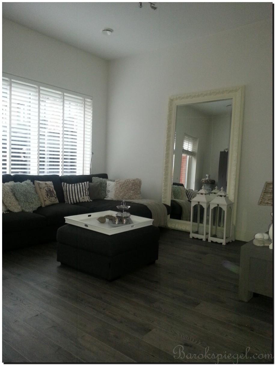 Interieur klassiek landelijk - Grote woonkamer design spiegel ...