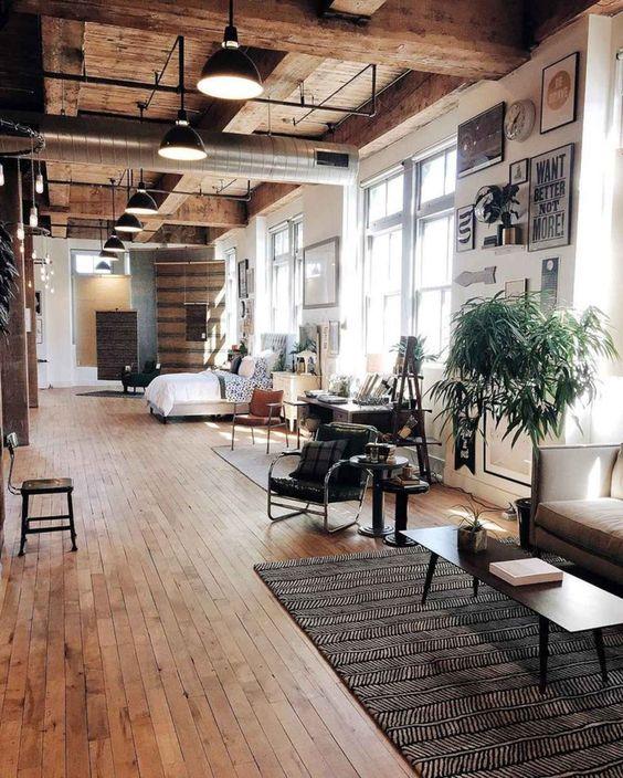 Deze 6 woonstijlen zijn perfect voor een houten vloer sfeer en living - Deco schilderij gang ...