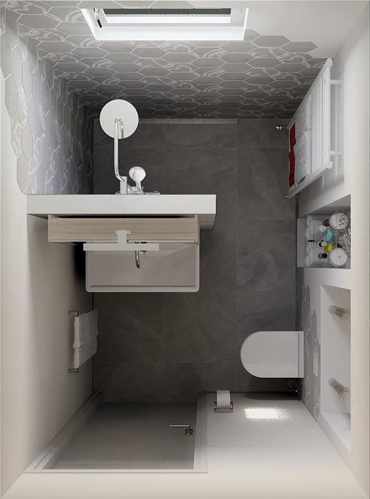 Kleine Badkamer. Perfect Voorbeeld Van Een Kleine Badkamer With ...