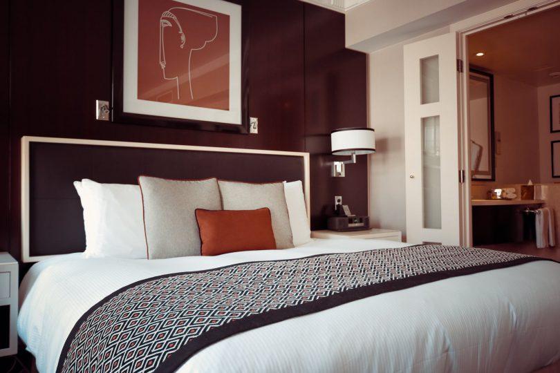 Slaapkamer sfeer en living